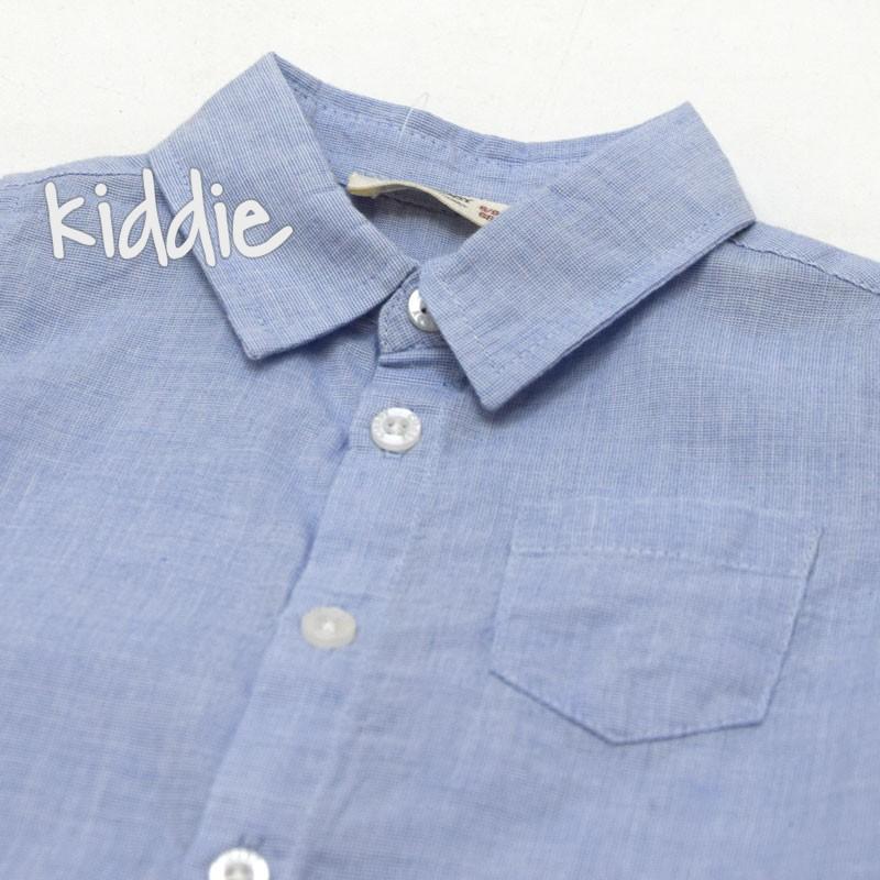 Бебешка риза Cikoby с горен джоб за момче