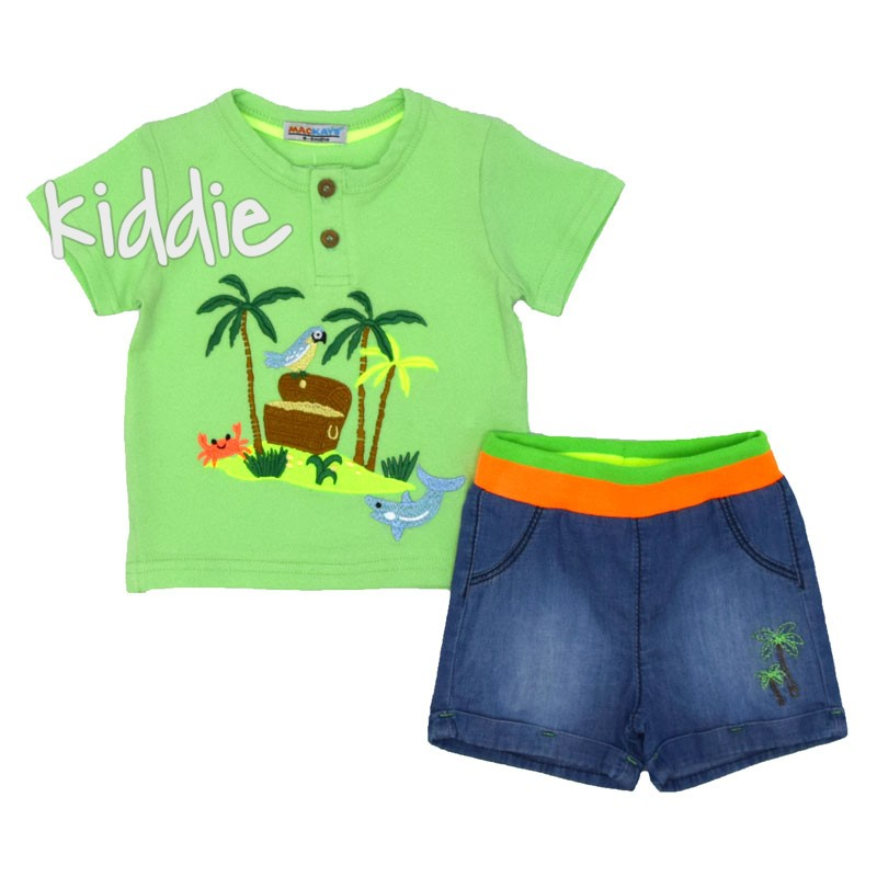 Бебешки комплект Mackays с бродирани палми за момче