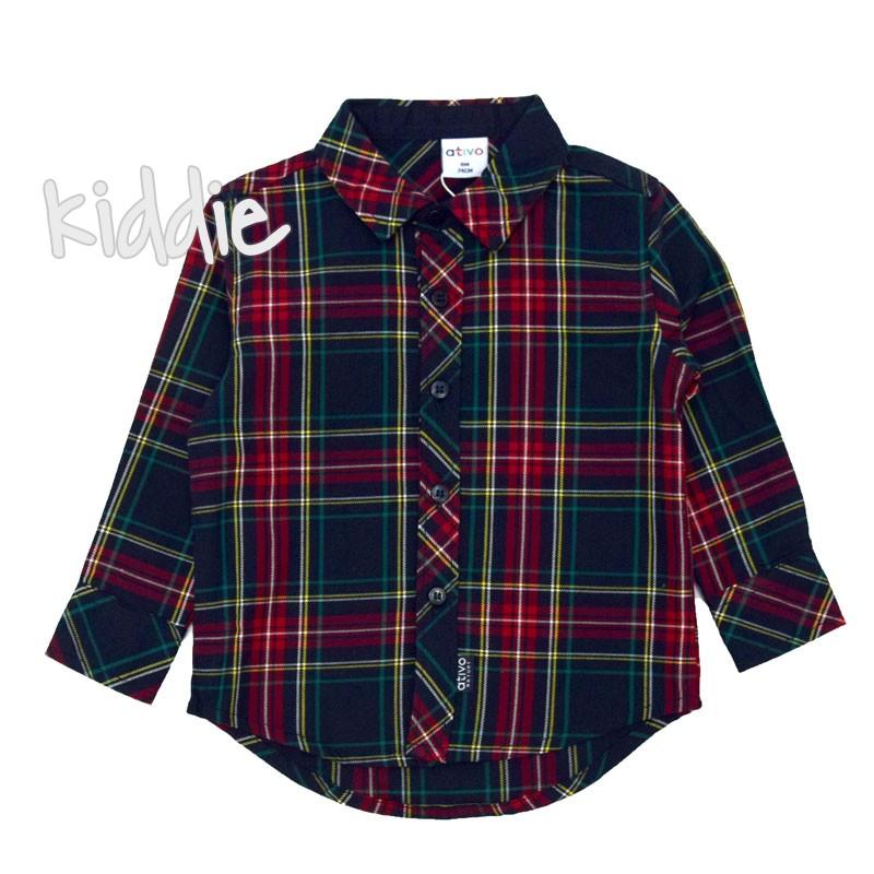 Бебешка карирана риза Ativo за момче