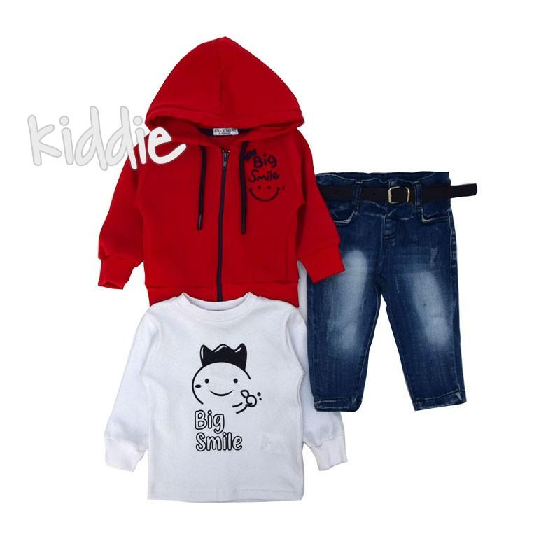 Бебешки комплект Eslemix с дънки за момче