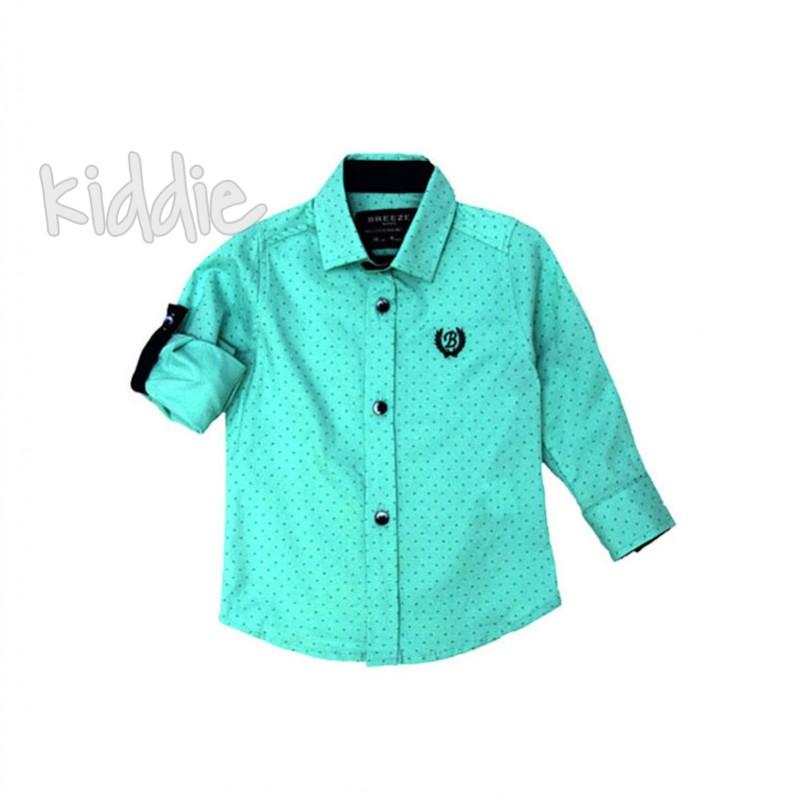 Бебешка риза за момче с бродерия Breeze