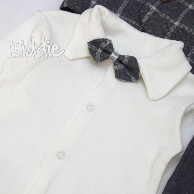 Бебешки комплект Modimix 3ч със сако за момче