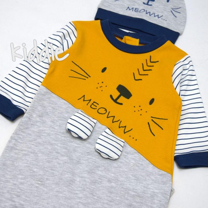 Бебешки гащеризон Meow Ciccimbaby за момче