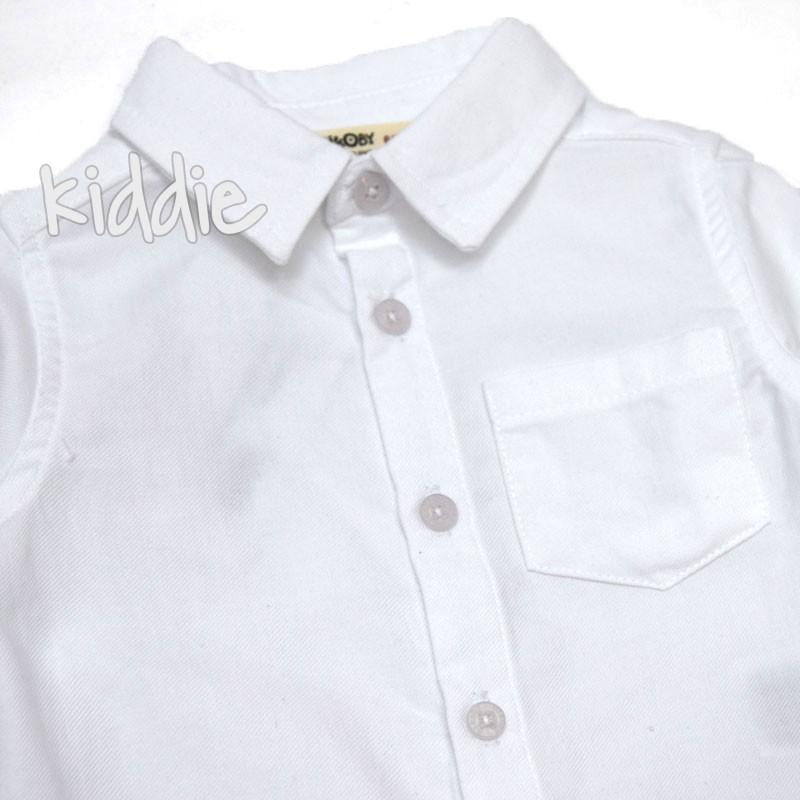 Бебешка риза с джоб Cikoby за момче