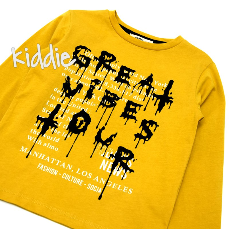 Детска блуза Great Vibes Cikoby за момче