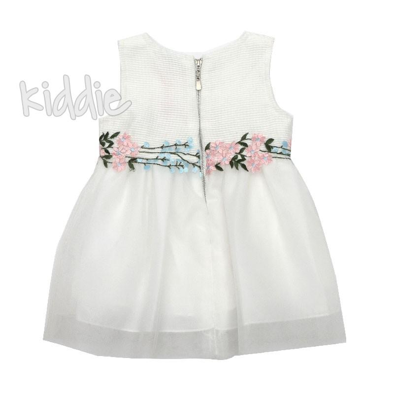 Бебешка рокля с бродирани цветя Ativo