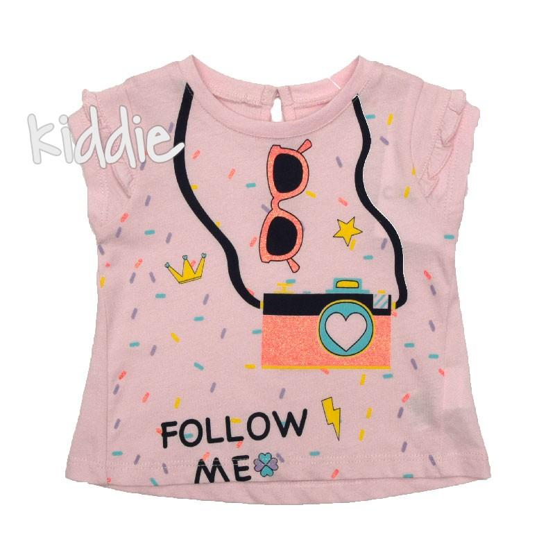 Бебешка тениска Follow me, Cikoby за момиче
