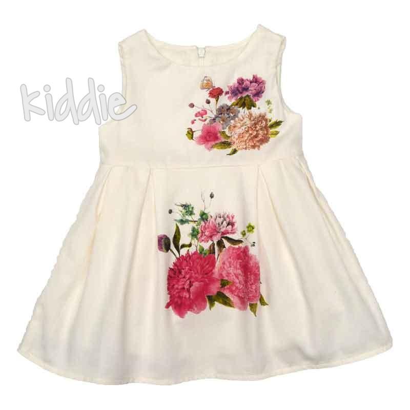 Бебешка рокля Cikoby на цветя