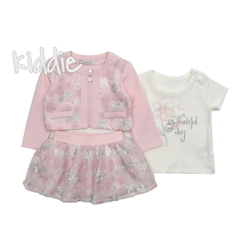 Бебешки комплект Beautiful Day - Gossyr за момиче