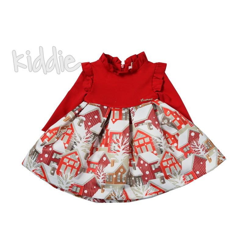 Бебешка Коледна рокля Contrast
