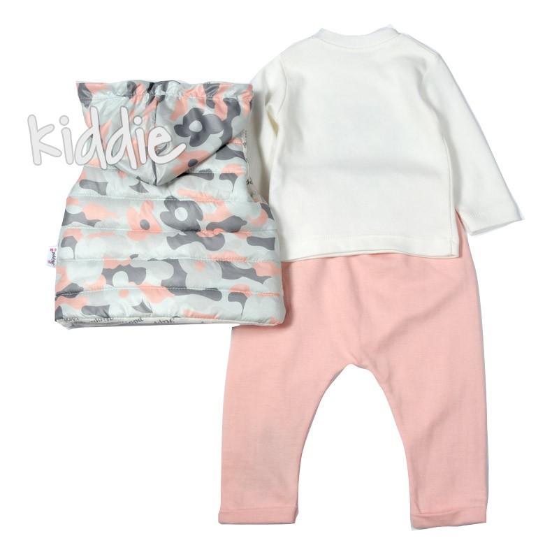 Бебешки комплект Hippil с камуфлажна грейка за момиче