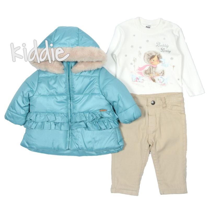 Бебешки комплект Bubbly Baby за момиче с яке