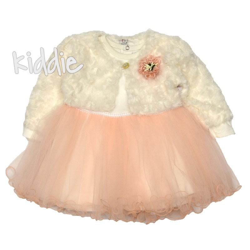 Бебешка рокля Bulsen с болеро и цвете