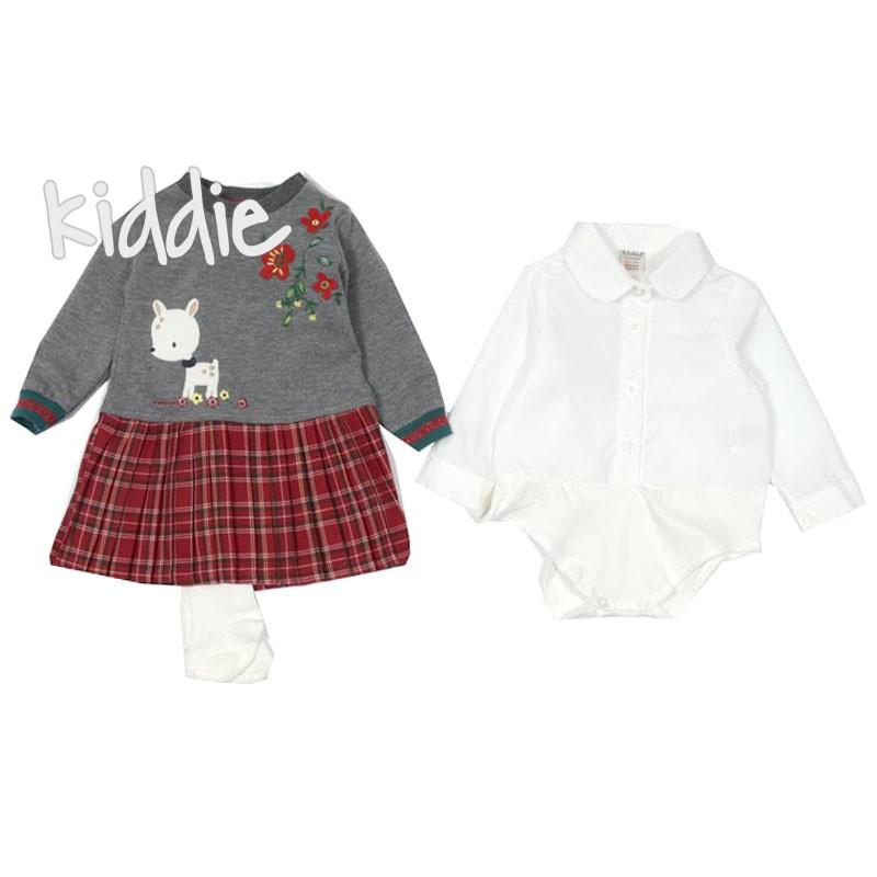 Бебешки комплект Bebus за момиче от три части