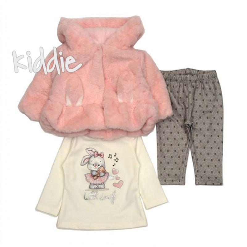 Бебешки комплект за момиче Repanda с палто