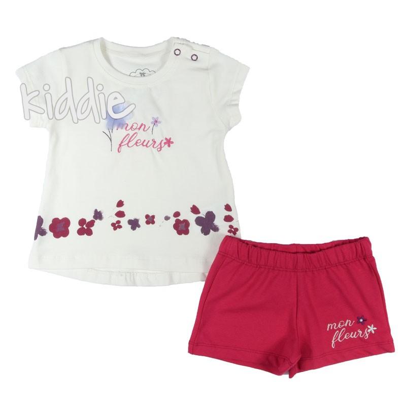 Бебешки комплект за момиче с къси панталони Masali