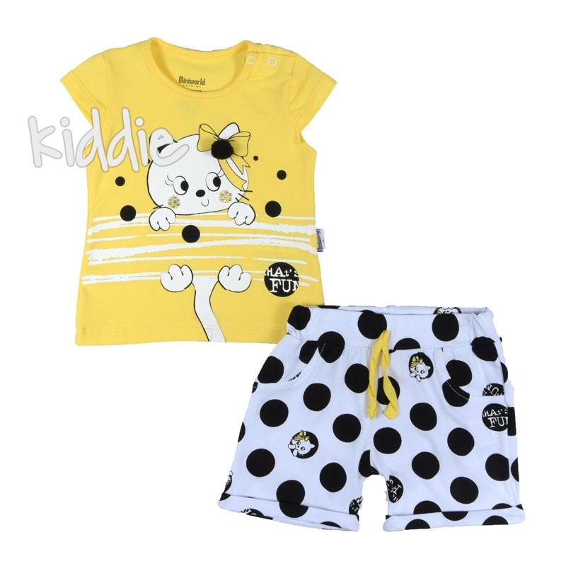 Бебешки комплект за момиче Cats Fun, Miniworld