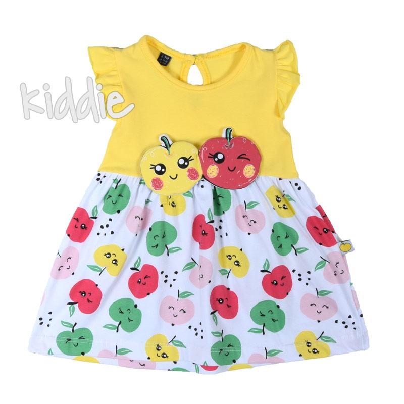 Бебешка рокля от трико Miniworld с ябълки