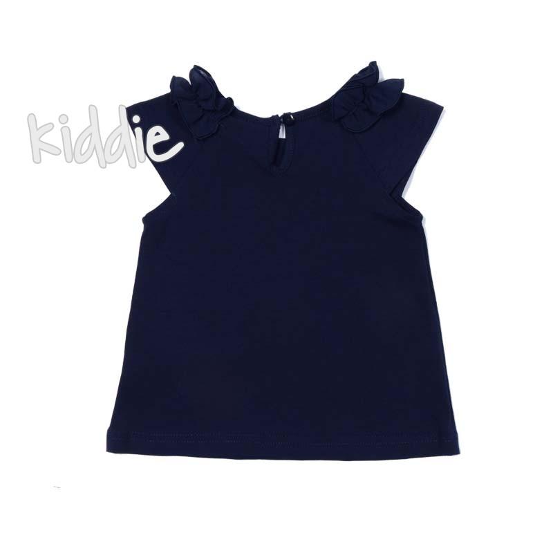 Бебешка блуза с къс ръкав и къдрички Ativo за момиче