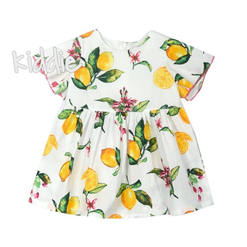 Бебешка рокля Лимони Cikoby
