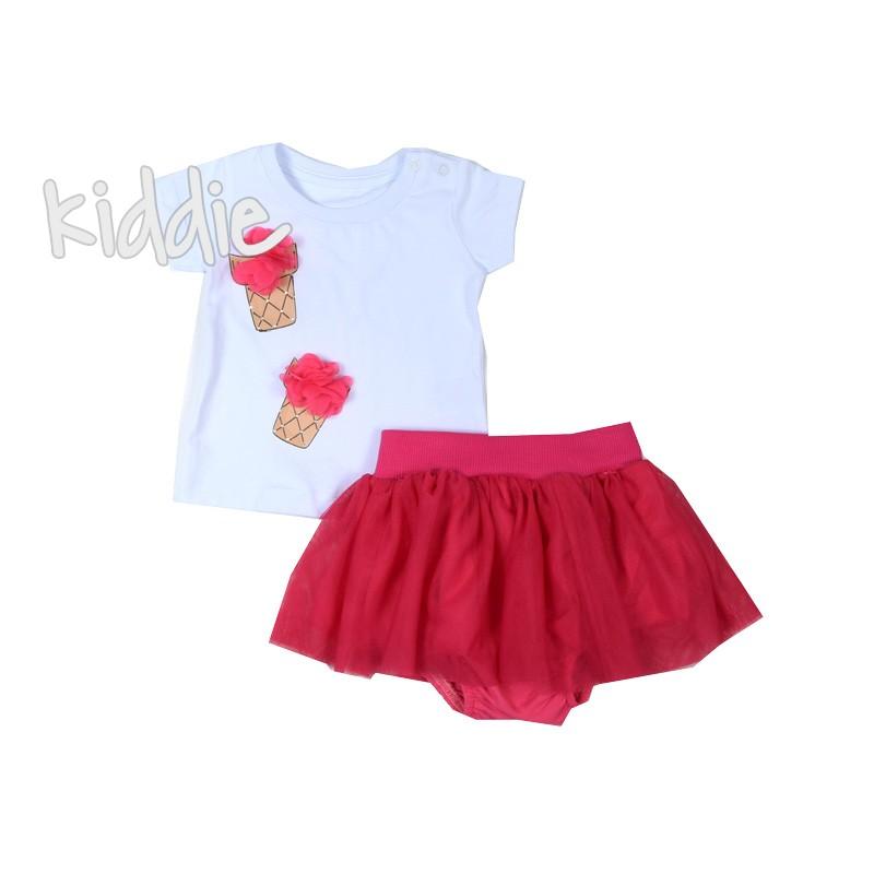 Бебешки комплект за момиче с пола Bebus