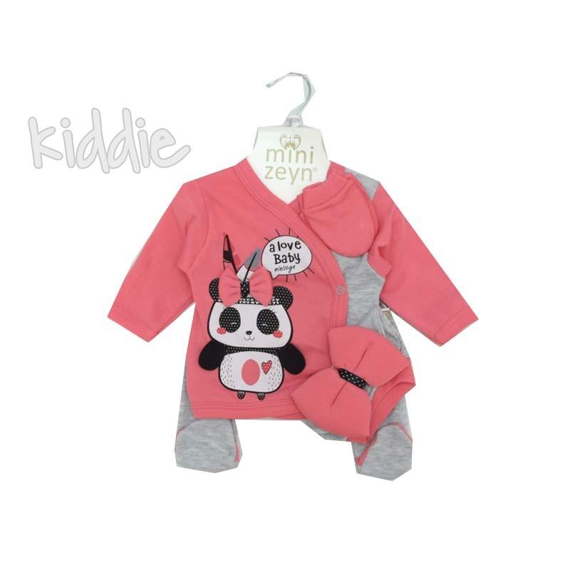 Бебешки комплект 5 части I love baby MiniZeyn за момиче