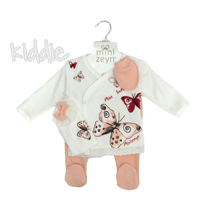 Бебешки комплект Пеперуди Miniworld за момиче