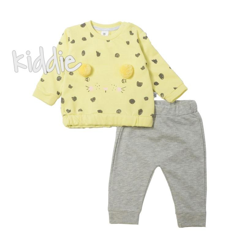 Бебешки комплект за момиче Bebico с понпони