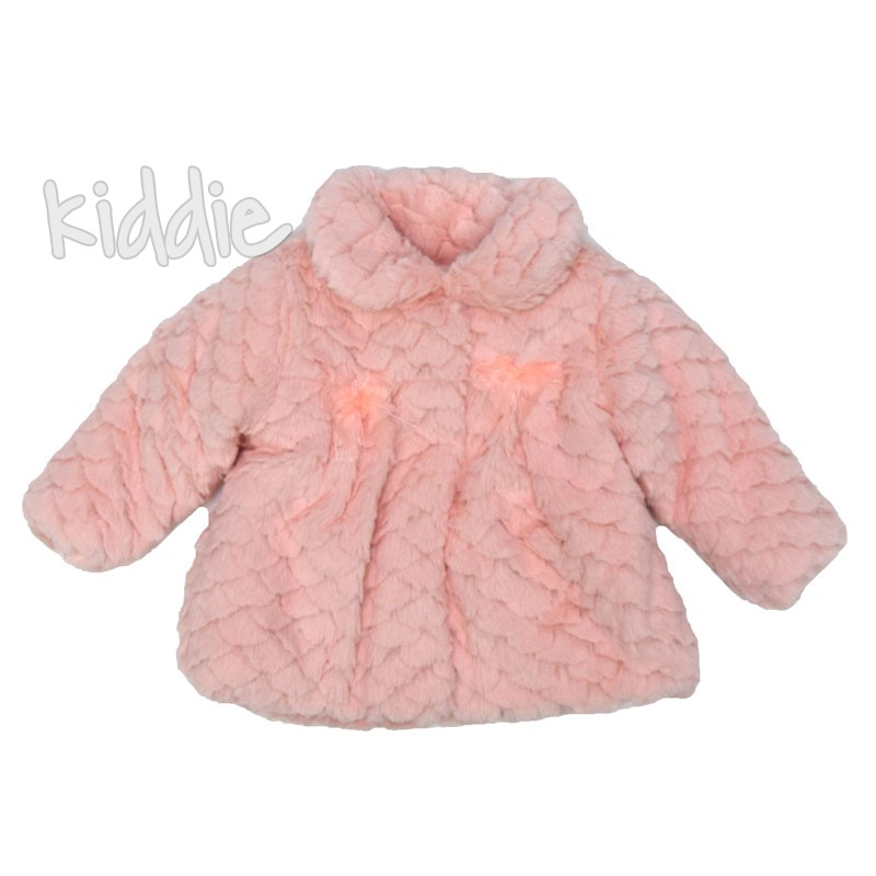 Бебешко пухкаво палто Bebessi за момиче
