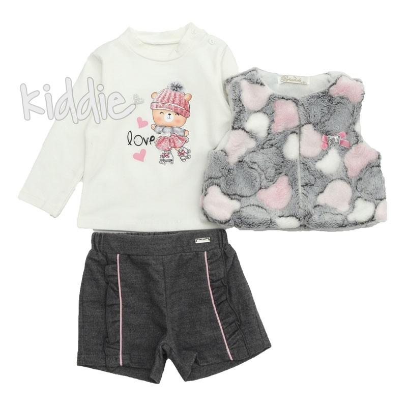 Бебешки комплект с къси панталони за момиче Repanda