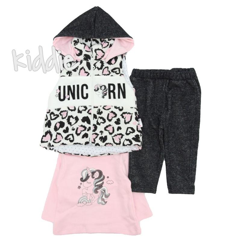 Бебешки комплект Unicorn Hippil Baby за момиче