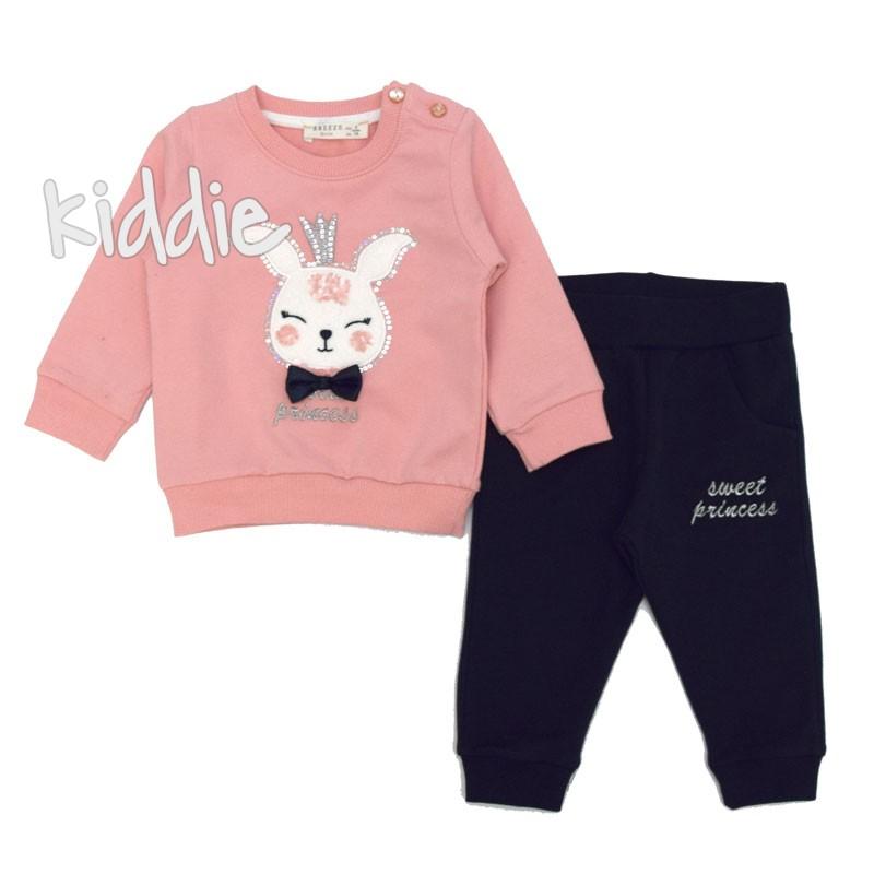 Бебешки комплект Breeze за момиче със зайче