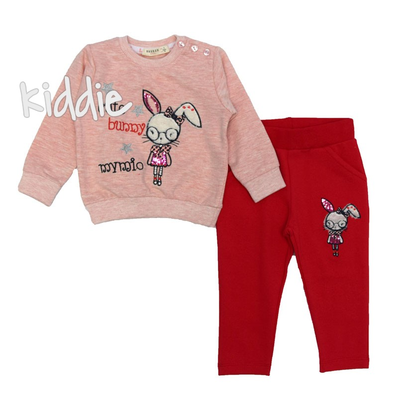 Бебешки комплект Breeze за момиче с долнище