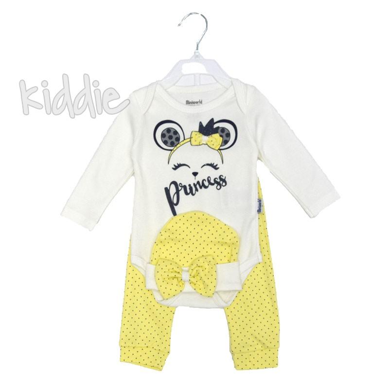Бебешки комплект Princes Miniword за момиче