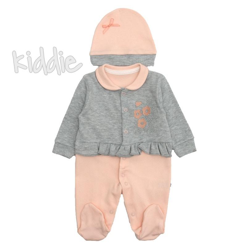 Бебешки гащеризон Mini Poni с къдрички за момиче