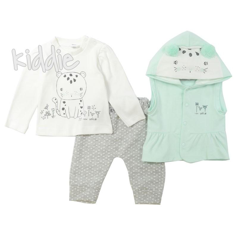 Бебешки комплект за момиче с елек Bebico
