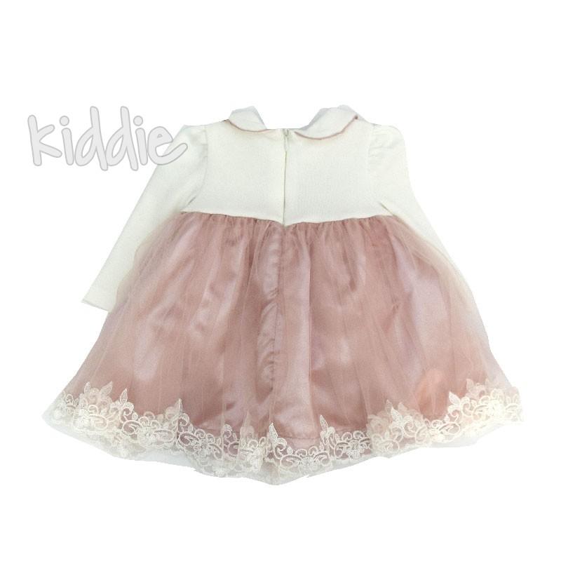 Бебешка рокля Mimio с голяма панделка