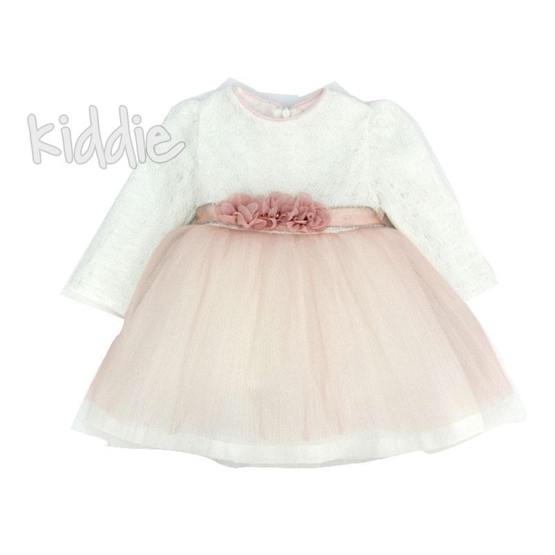 Бебешка рокля Onymio с цветя на талията