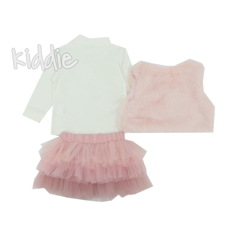 Бебешки комплект 3 части за момиче с елек Repanda