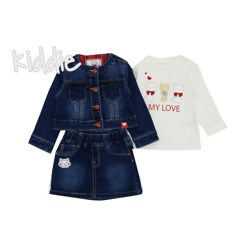 Бебешки комплект 3 части за момиче Lollitop