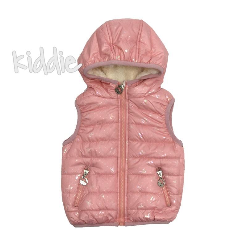Розова бебешка грейка за момиче с пухкав хастар Pink baby