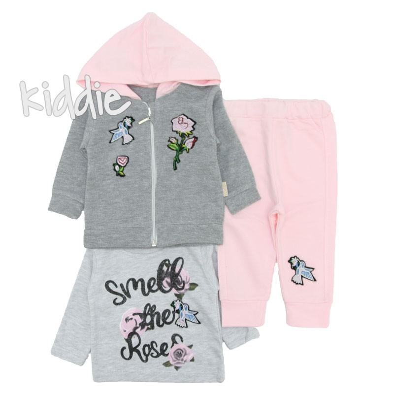Бебешки комплект Smile the roses Boncuk за момиче