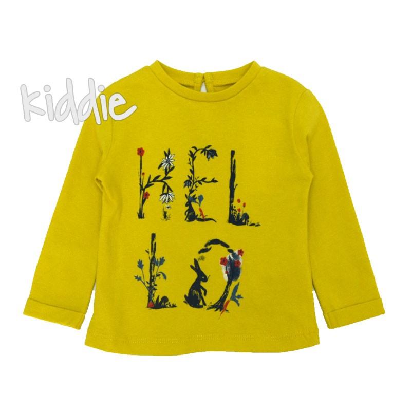 Бебешка блуза Cikoby Hello за момиче