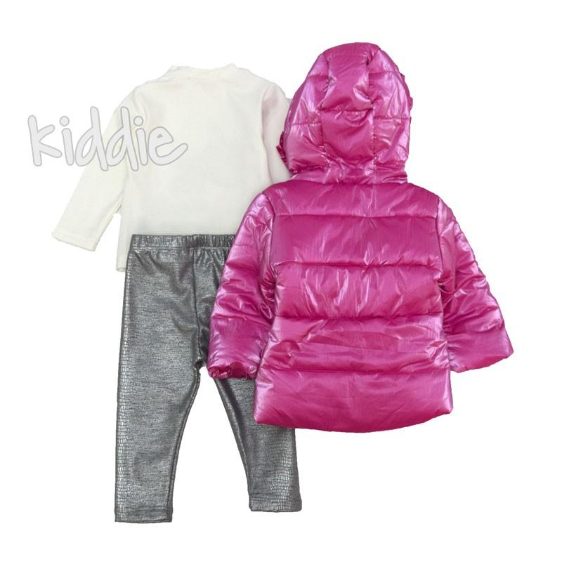 Бебешки комплект за момиче Repanda с розово яке