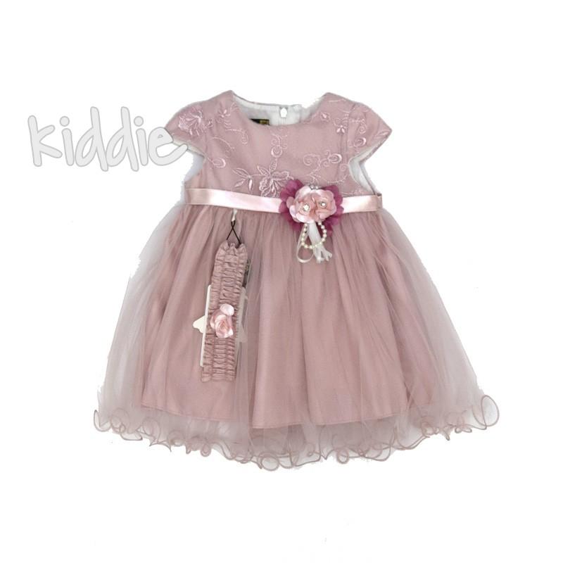 Бебешка рокля с бродиран тюл Eray kids