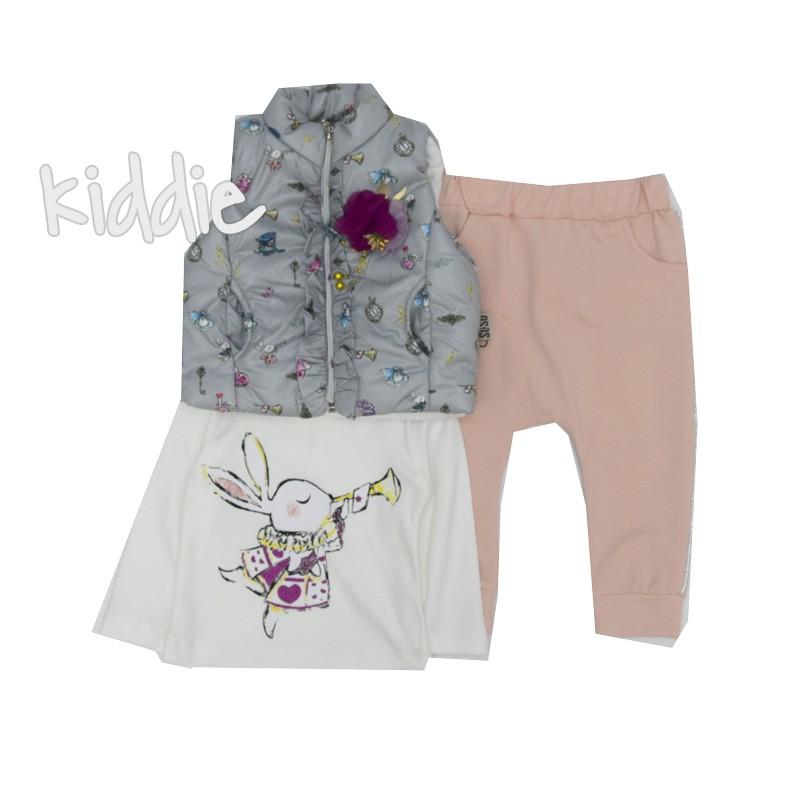 Бебешки комплект с грейка Soso Exclusive за момиче