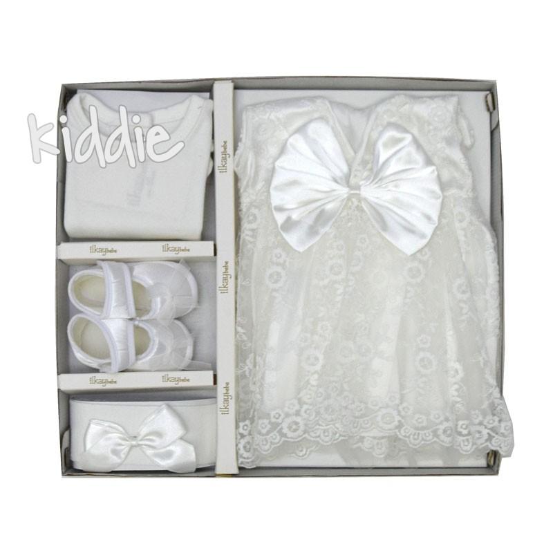 Комплект за изписване Ilkay bebe рокля с панделка
