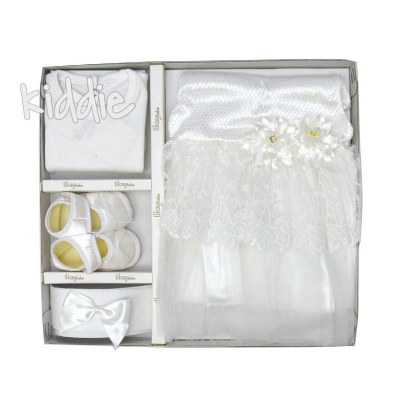 Комплект за изписване Ilkay bebe рокля с цветя