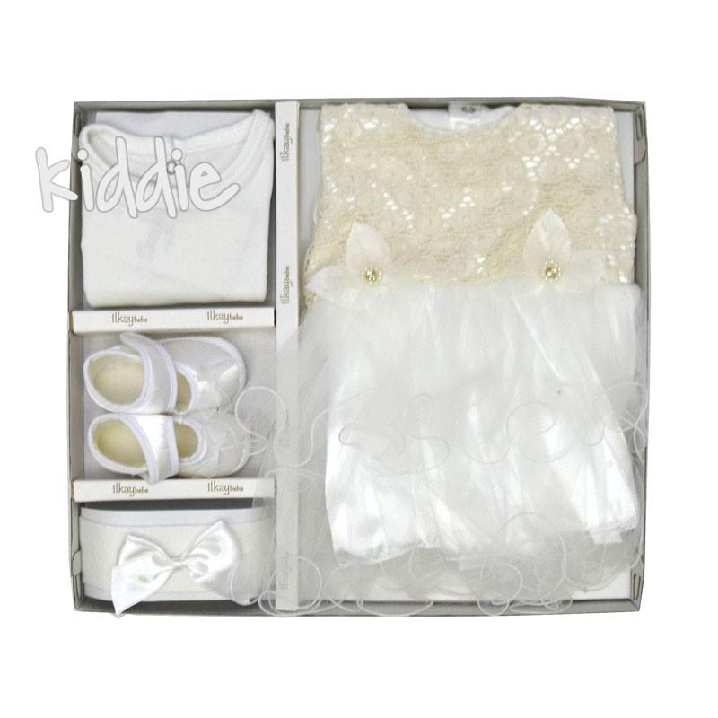 Комплект за изписване Ilkay bebe рокля и дантела