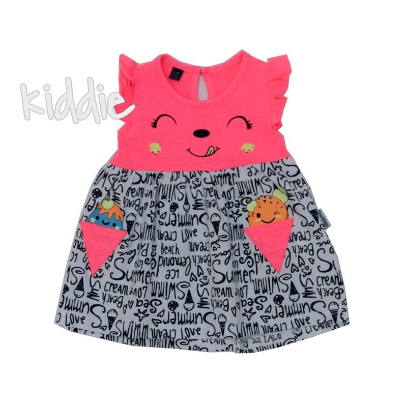 Бебешка рокля Miniworld с усмивка
